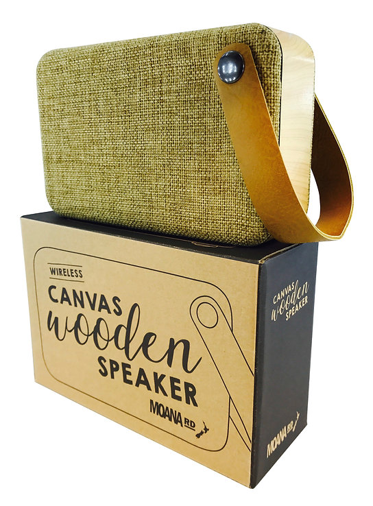 MRD Canvas Wooden Speaker with Packaging