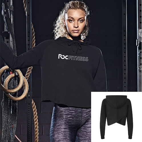 ROC Fitness Girls Cross-back Cropped Hoodie