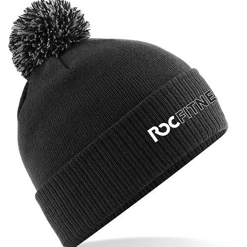 ROC Fitness Black Bobble Hat