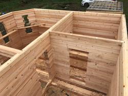 сруб бани 6х6 готов планировка