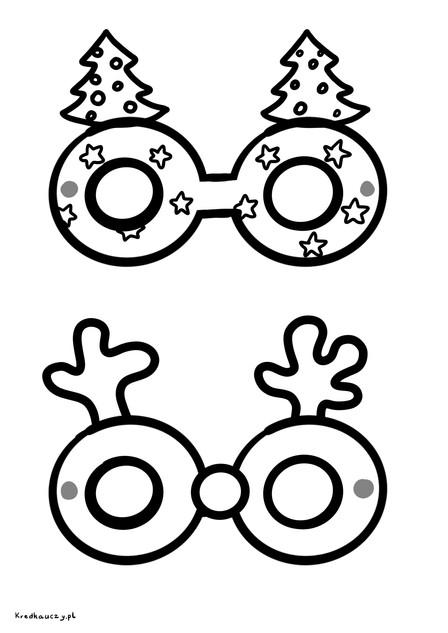Darmowy Szablon zimowe okulary