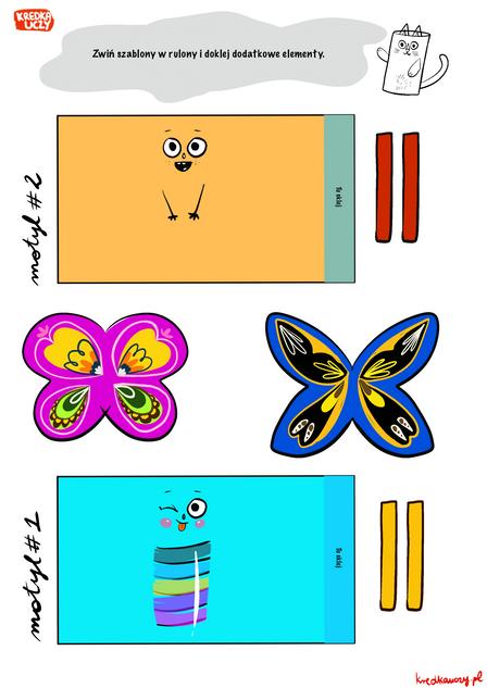 szablony motyle kolor