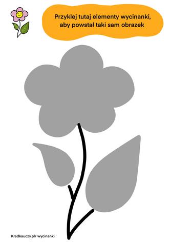 Kwiatek obrys wycinanka