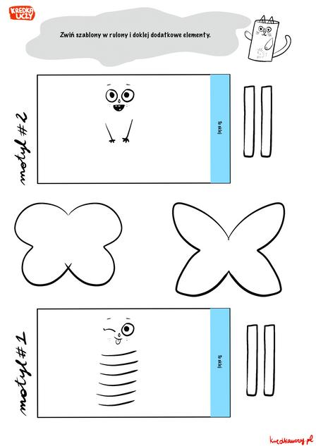 Szablony motyle czb