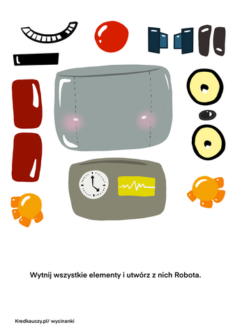 Robot Elementy Wycinanka