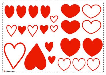 Serduszka do Walentynkowych kartek