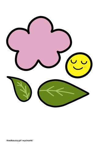 Kwiatek Elementy Wycinanka
