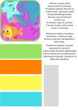 rybka karty kolorowe