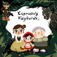 Czerwony Kapturek Teatr Szablony