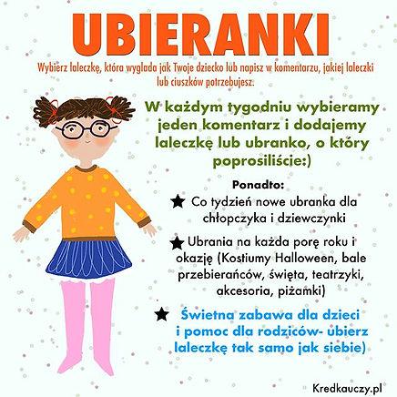 Ubieranki dla dzieci na Kredkauczy.pl