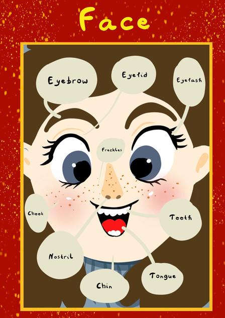 Face Plakat dla dzieci