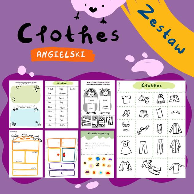 Zestaw ubrania po angielsku