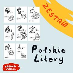 Zestaw Polskie Litery Dla dzieci do druk