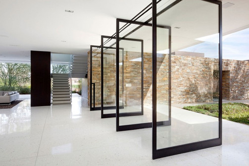 Clear Tempered Glass Swing Doors