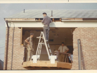 Framing out a bay window