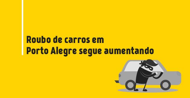 Roubo de carros em Porto Alegre segue aumentando