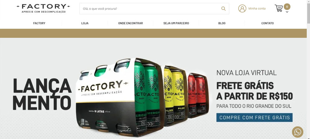 e-commerce factory beer loja virtual
