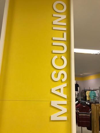 Letra Caixa em PVC Expandido