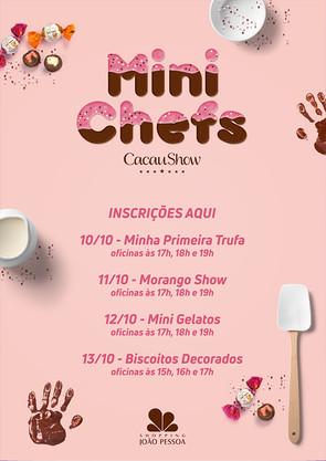 Mini Chefs Cacau Show Shopping João Pessoa