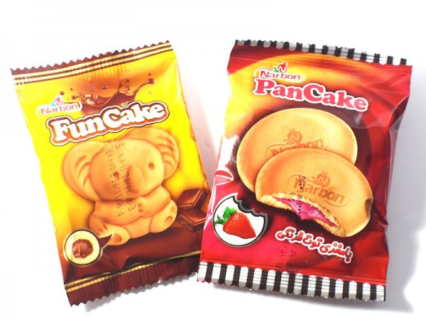 Narbon funcake and pancakes in packaging