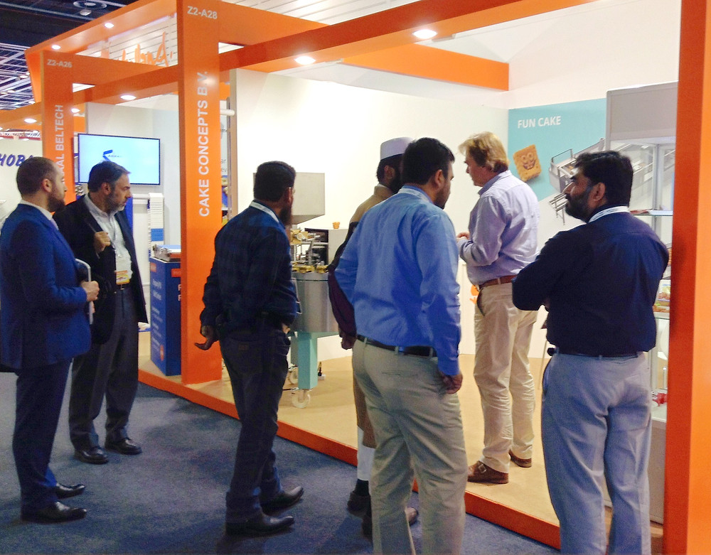Booth at the Gulfood 2016 with visitors