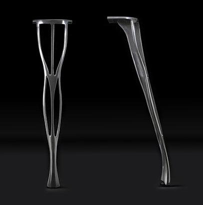 Set of four Delicate cast Aluminium Table Leg