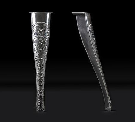 Set of four Maori Graphic very strong Cast Aluminium Table Legs