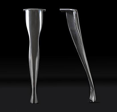 Set of 4 Highly Polished Cast Aluminium Table Legs