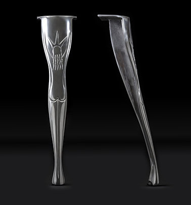 Set of 4 Art Deco style Cast Aluminium Table Leg