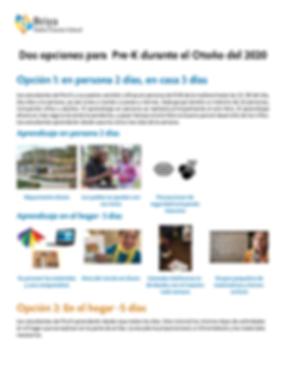 PreK info sheet summer 2020 Spanish.png