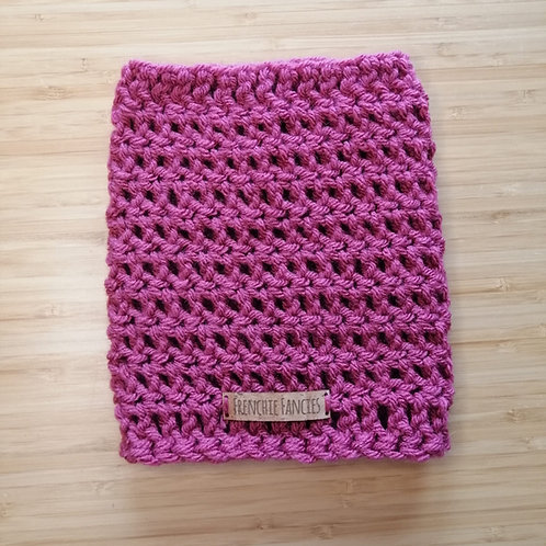 Raspberry Crochet Snood
