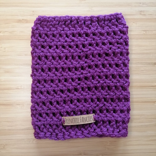 Plum Crochet Snood
