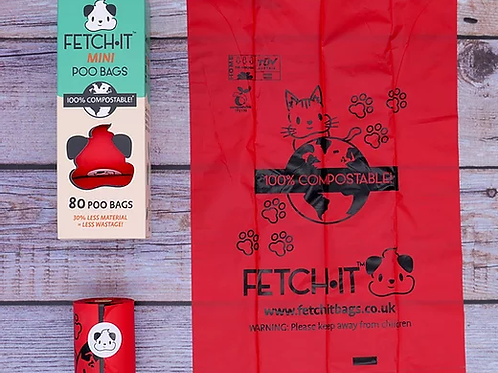 FETCH·IT Mini Compostable Poo Bags (80 Bags)