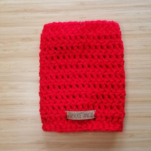 Red Crochet Snood