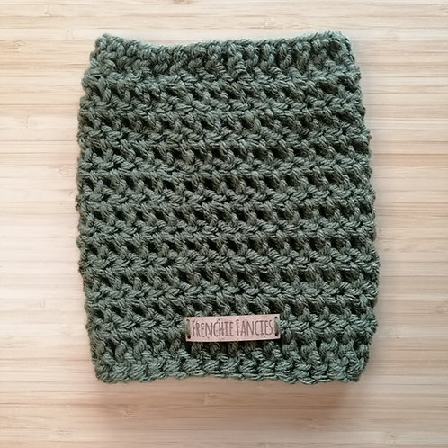 Khaki Crochet Snood