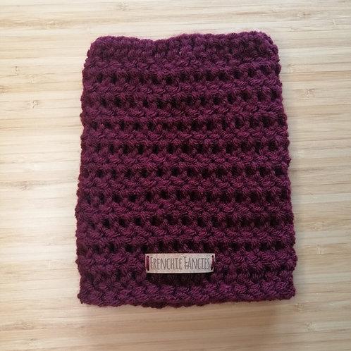 Burgundy Crochet Snood