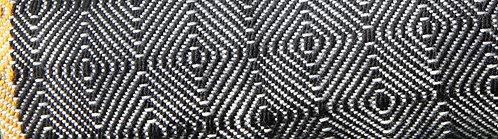 Plaid noir et gris en Mérinos