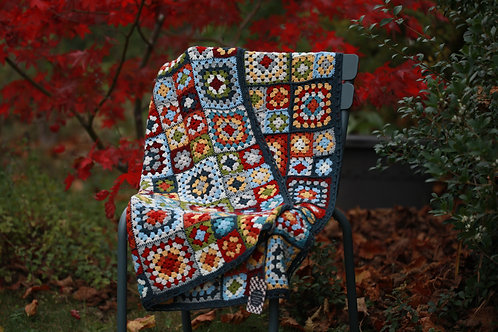 Plaid granny en laine