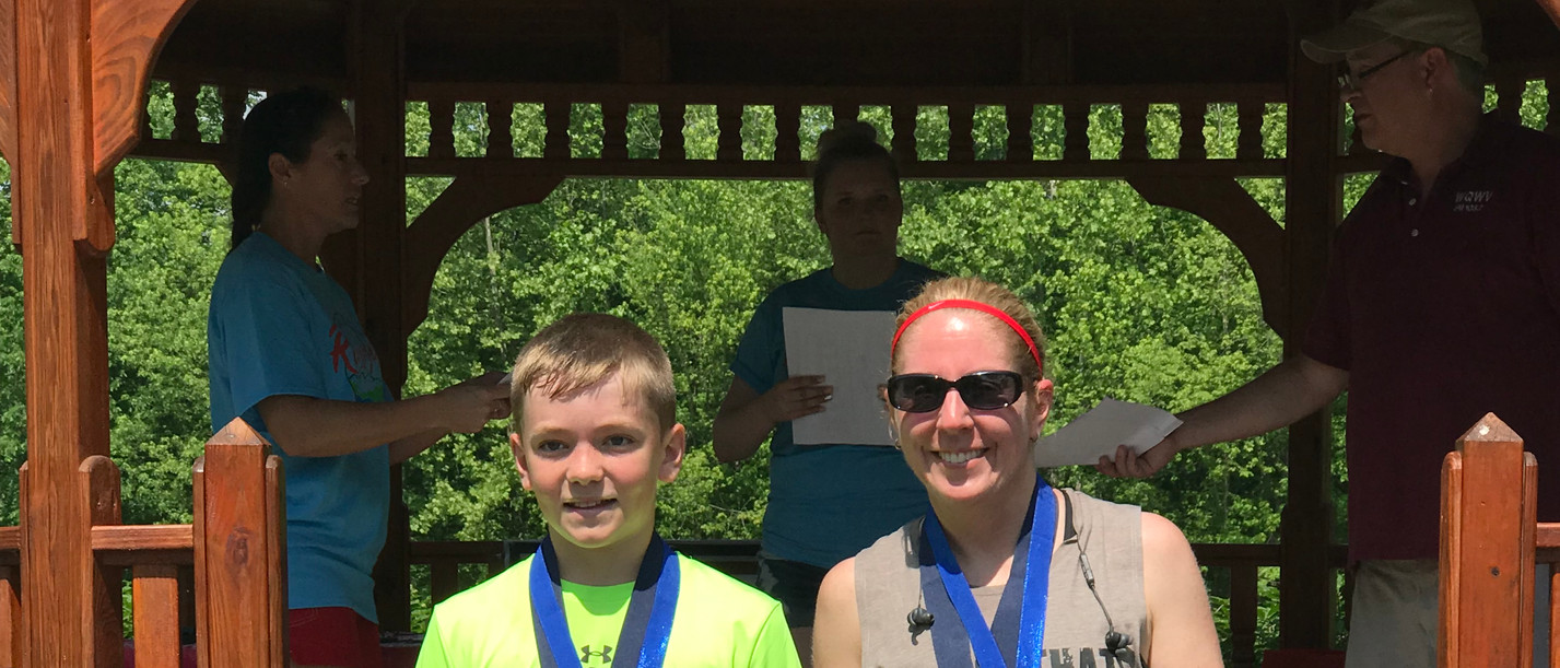 Some of the many Fun Run winners