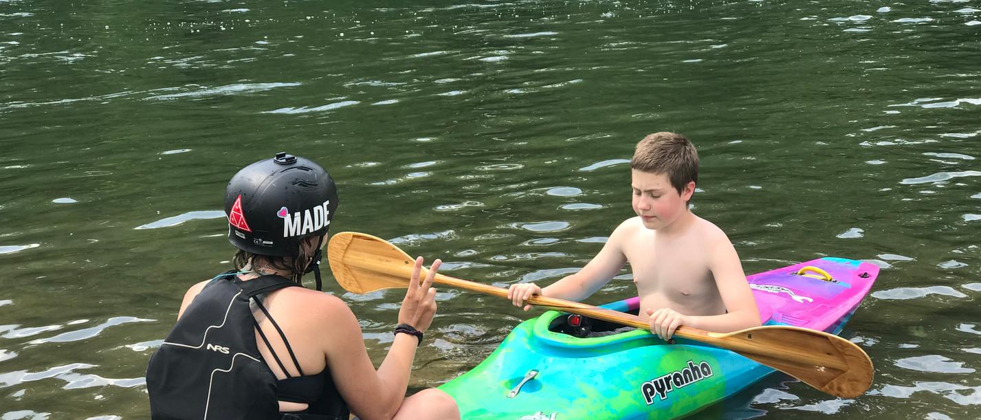 A kayaking demonstration
