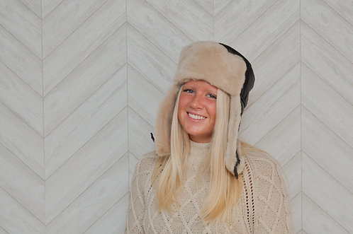 Sheepskin Berkshire Flap Hat