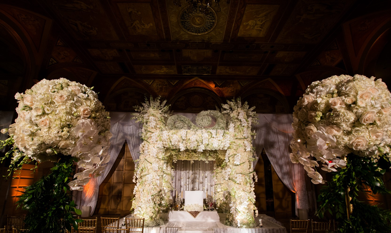 Amazing floral wedding chuppah