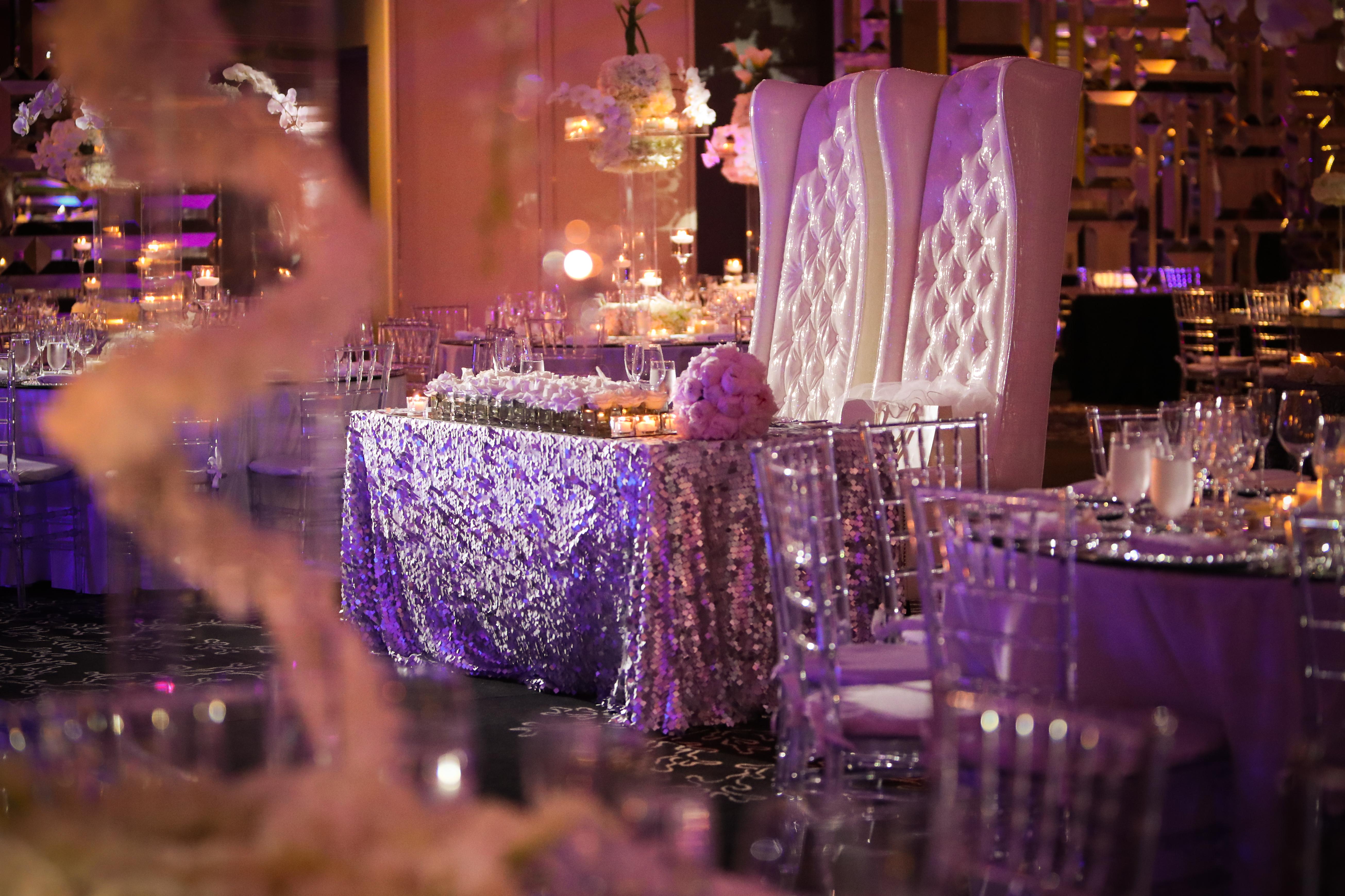 Wedding sweet heart table