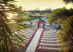 A pretty tropical ceremony isle