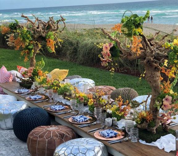 Destination Wedding, Party, flowers, decor, designer, centerpieces, elegant, boho