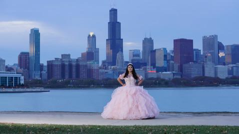 Quinceanera Skyline Chicago