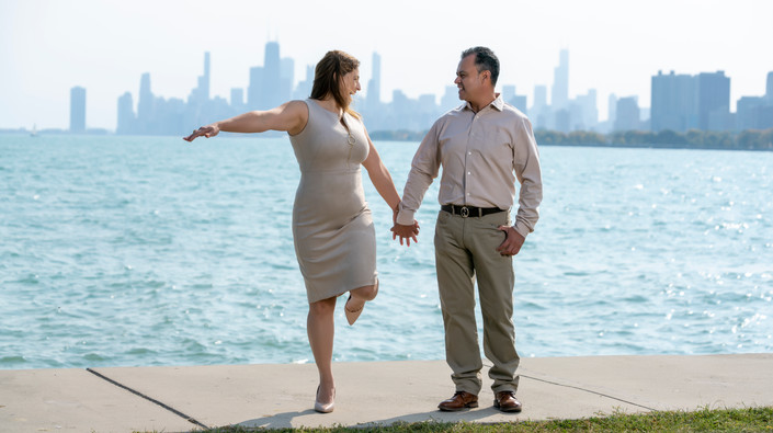 Chicago Skyline Engagement Session
