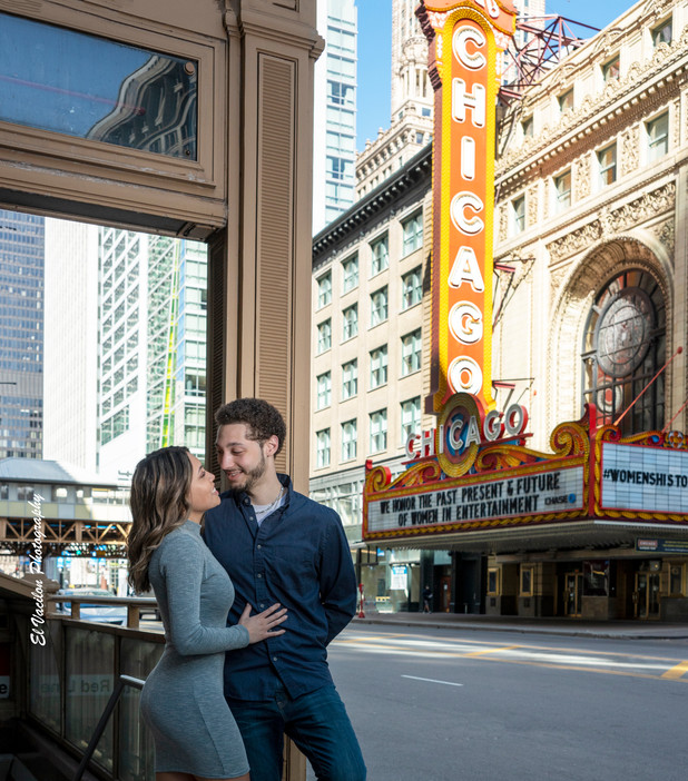 Chicago Theater Engagement Session