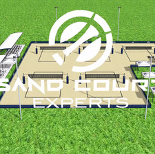 3D Model of UNF Beach Volleyball Courts