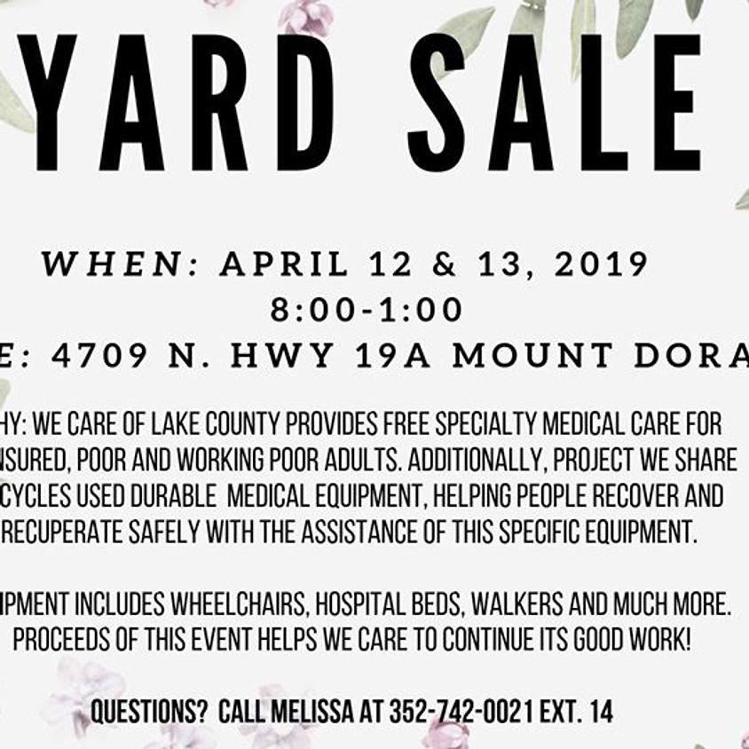 We Care Yard Sale